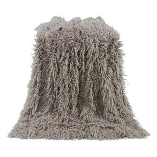 TR5003-OS-GY: HEA Mangolian Faux Fur Throw, 50X60 Grey