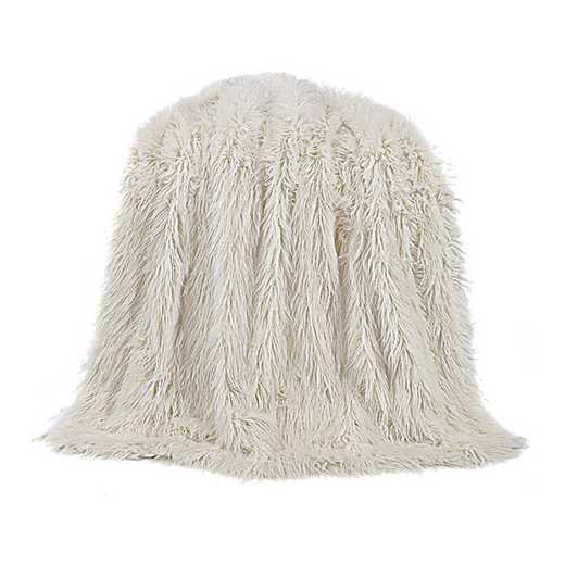 TR5003-OS-WH: HEA Mangolian Faux Fur Throw, 50X60 White