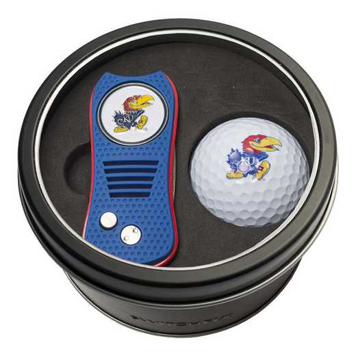21756: Tin Gft St w/ Switchfix DVT Glf Ball Kansas Jayhawks