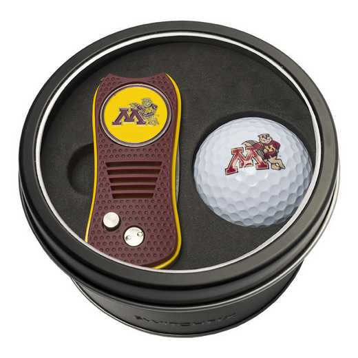 24356: Tin Gft St w/ Switchfix DVT Glf Ball Minnesota Golden Gophers