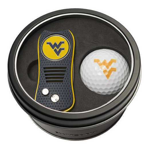 25656: Tin Gft St w/ Switchfix DVT Glf Ball West Virginia Mountaineers