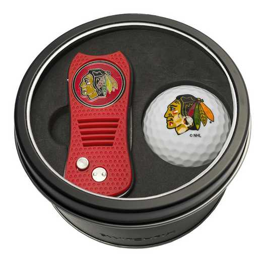 13556: Tin Gft St w/ Switchfix DVT Glf Ball Chicago Blackhawks