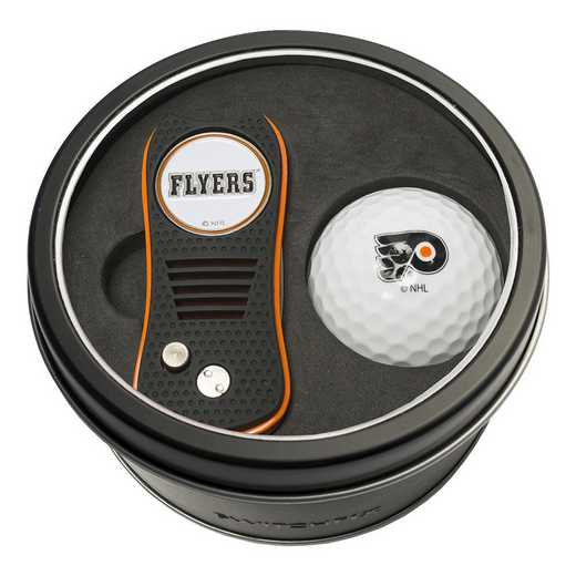 15056: Tin Gft St w/ Switchfix DVT Glf Ball Philadelphia Flyers