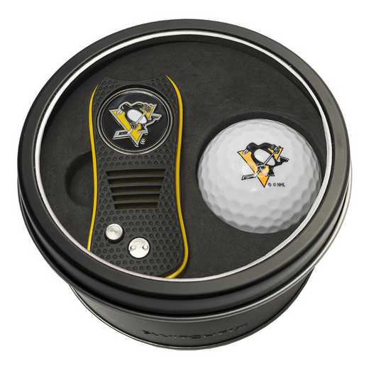 15256: Tin Gft St w/ Switchfix DVT Glf Ball Pittsburgh Penguins