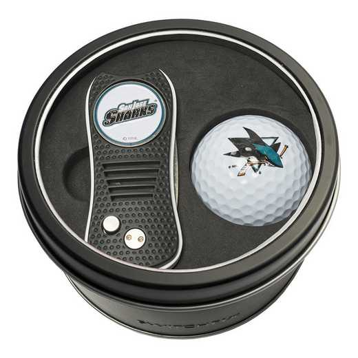 15356: Tin Gft St w/ Switchfix DVT Glf Ball San Jose Sharks