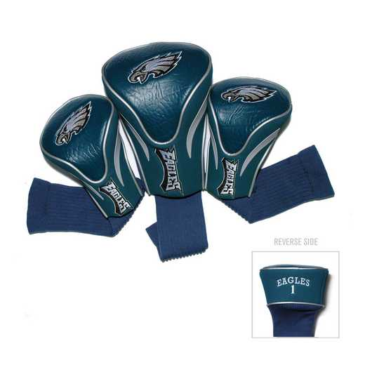 32294: 3 PKContour Head Covers Philadelphia Eagles
