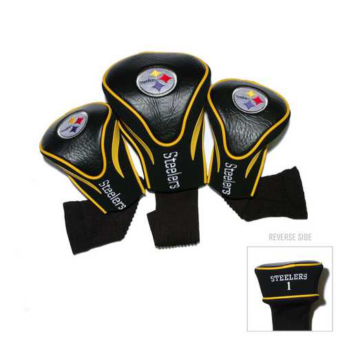 32494: 3 PKContour Head Covers Pittsburgh Steelers