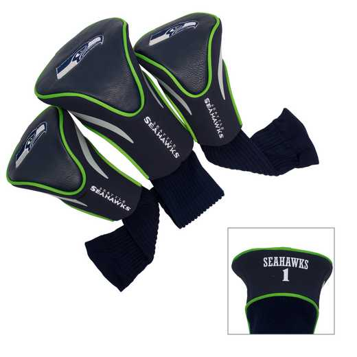 32894: 3 PKContour Head Covers Seattle Seahawks