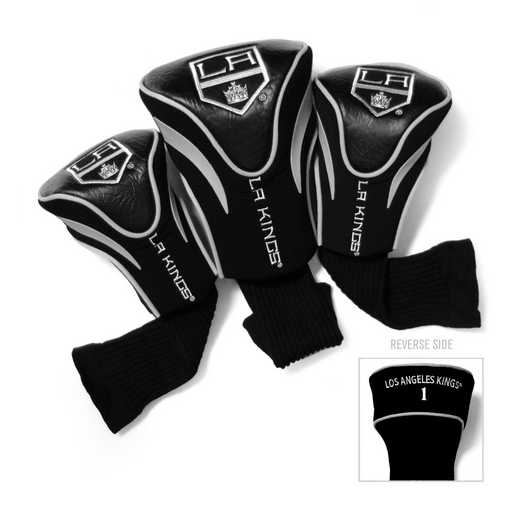 14294: 3 PKContour Head Covers Los Angeles Kings