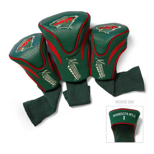 14394: 3 PKContour Head Covers Minnesota Wild