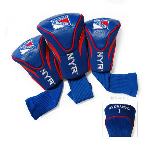 14894: 3 PKContour Head Covers New York Rangers