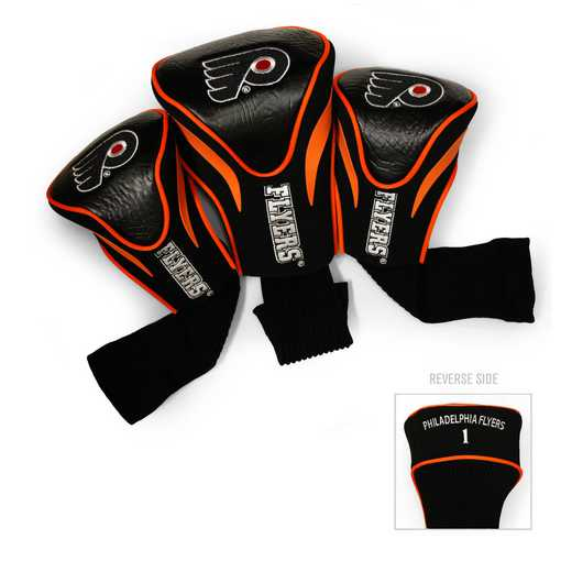 15094: 3 PKContour Head Covers Philadelphia Flyers