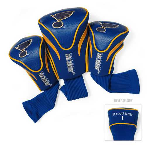 15494: 3 PKContour Head Covers St Louis Blues