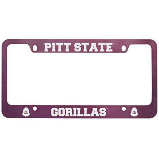 SM-31-PNK-PITTST-1-SMA: LXG SM/31 CAR FRAME PINK, Pittsburgh State