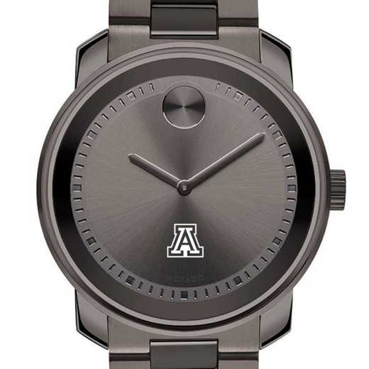 615789690672: Univ of Arizona Men's Movado BOLD gnmtl gry