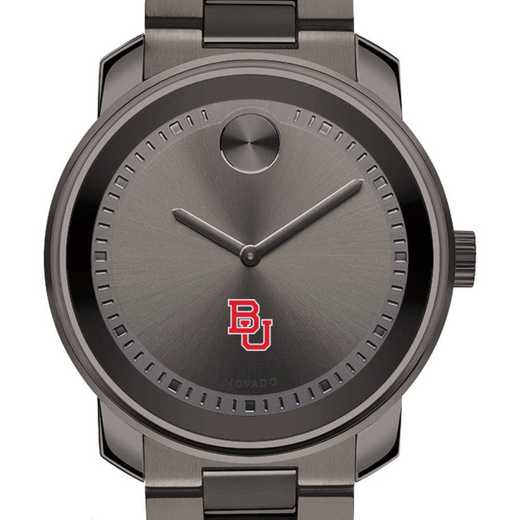 615789437758: Boston Univ Men's Movado BOLD gnmtl gry