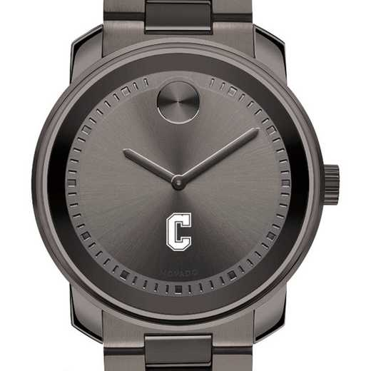 615789351191: College of Charleston Men's Movado BOLD gnmtl gry