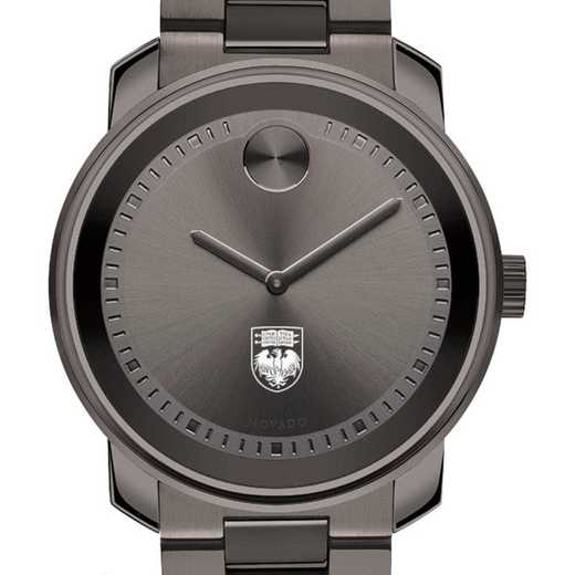 615789945093: Univ of Chicago Men's Movado BOLD gnmtl gry