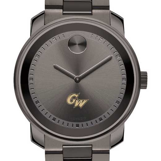 615789531869: George Washington Univ Men's Movado BOLD gnmtl gry