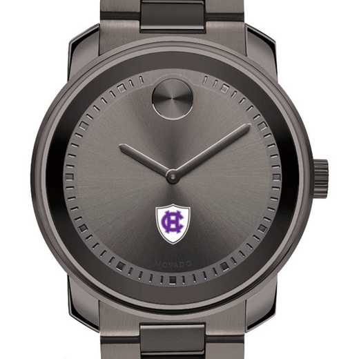 615789943976: Holy Cross Men's Movado BOLD gnmtl gry