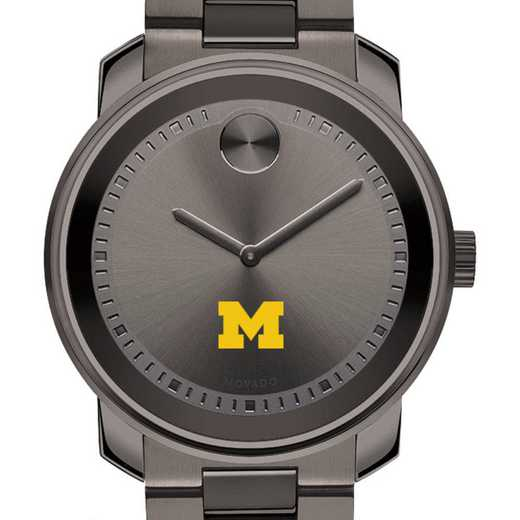 615789301677: Univ of Michigan Men's Movado BOLD gnmtl gry