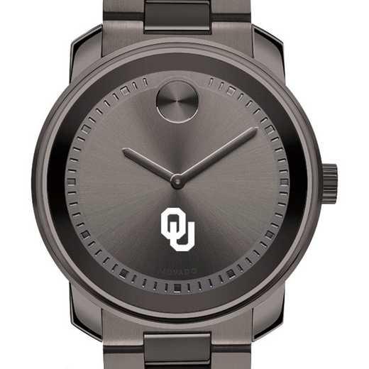 615789783862: Univ of Oklahoma Men's Movado BOLD gnmtl gry