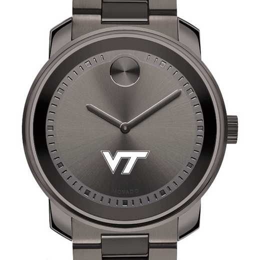 615789361534: Virginia Tech Men's Movado BOLD gnmtl gry
