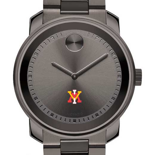 615789101079: Virginia Military Institute Men's Movado BOLD gnmtl gry