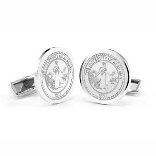 615789894155: University of Alabama Cufflinks in Sterling Silver