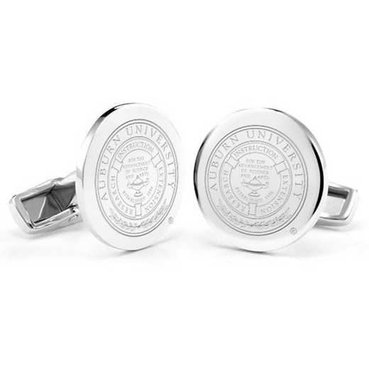 615803320479: Auburn University Cufflinks in Sterling Silver