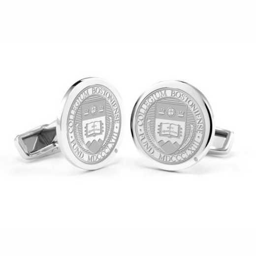 615789772767: Boston College Cufflinks in Sterling Silver