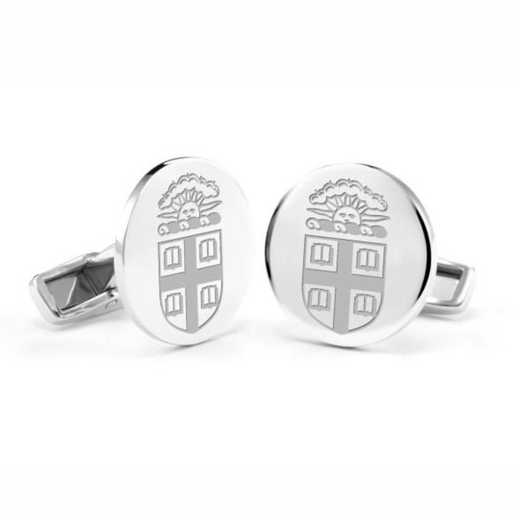615789855446: Brown University Cufflinks in Sterling Silver