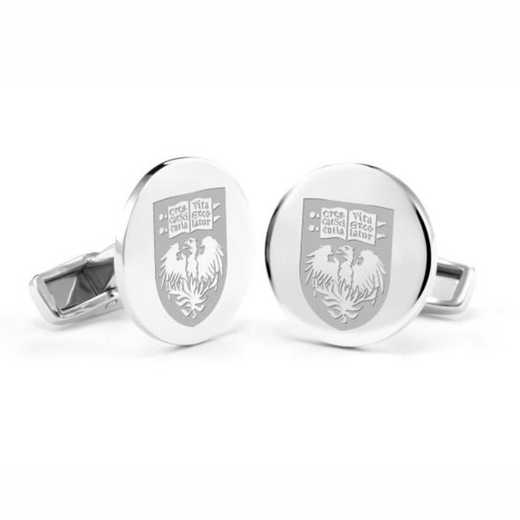 615789786993: University of Chicago Cufflinks in Sterling Silver