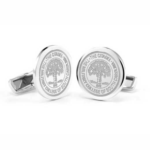 615789918660: Citadel Cufflinks in Sterling Silver
