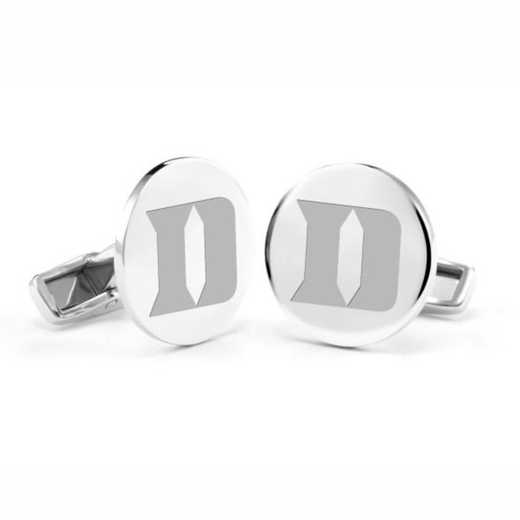 615789580911: Duke University Cufflinks in Sterling Silver