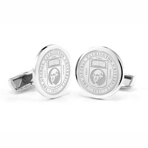 615789693864: George Washington University Cufflinks in Sterling Silver
