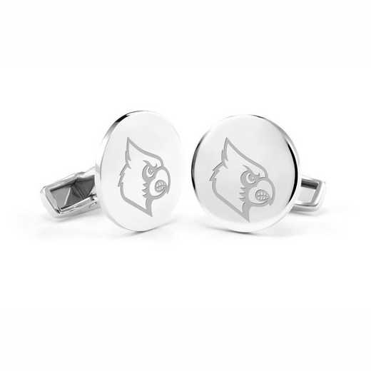 615789488392: University of Louisville Cufflinks in Sterling Silver