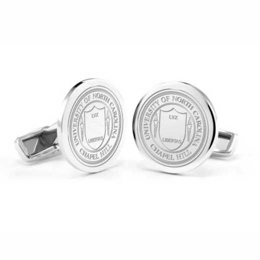 615789113386: University of North Carolina Cufflinks in Sterling Silver