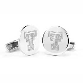 615789907824: Texas Tech Cufflinks in Sterling Silver