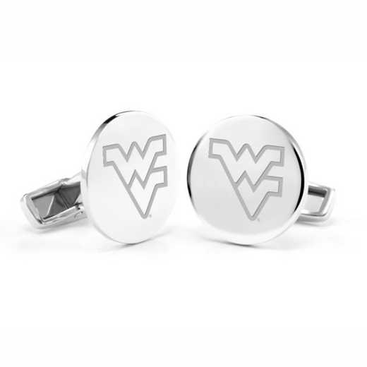 615789471592: West Virginia University Cufflinks in Sterling Silver