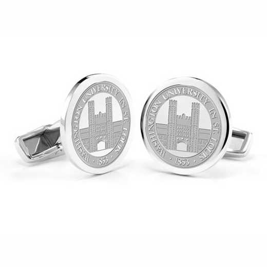 615789280767: WUSTL Cufflinks in Sterling Silver