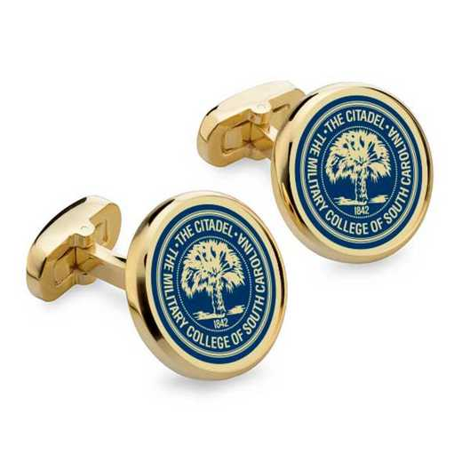 615789336587: Citadel Enamel Cufflinks by M.LaHart & Co.