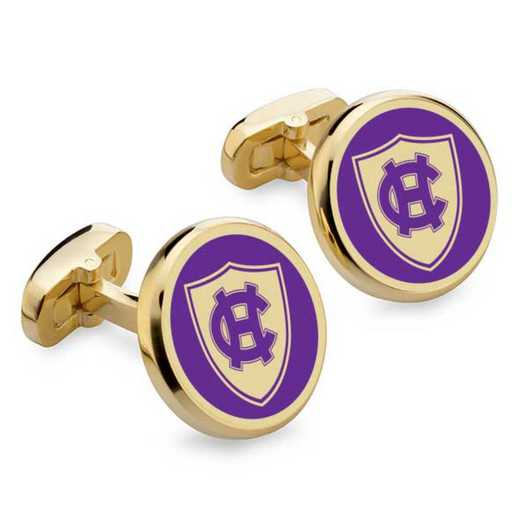 615789899433: Holy Cross Enamel Cufflinks by M.LaHart & Co.