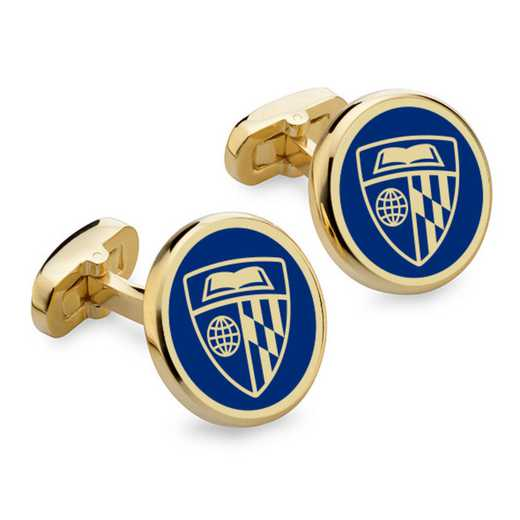 615789789390: Johns Hopkins Enamel Cufflinks by M.LaHart & Co.