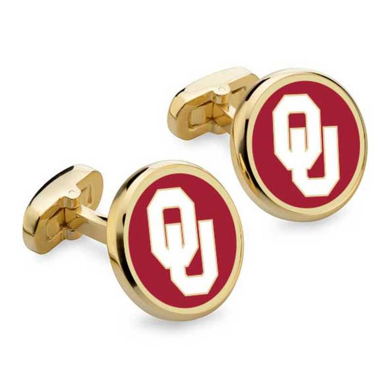 615789083450: Oklahoma Enamel Cufflinks by M.LaHart & Co.