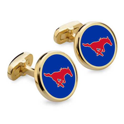 615789796787: SMU Enamel Cufflinks by M.LaHart & Co.