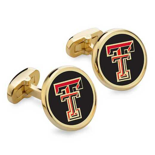 615789499527: Texas Tech Enamel Cufflinks by M.LaHart & Co.