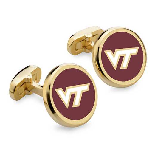 615789397847: Virginia Tech Enamel Cufflinks by M.LaHart & Co.