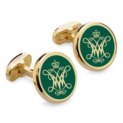 615789441489: College of William & Mary Enamel Cufflinks by M.LaHart & Co.