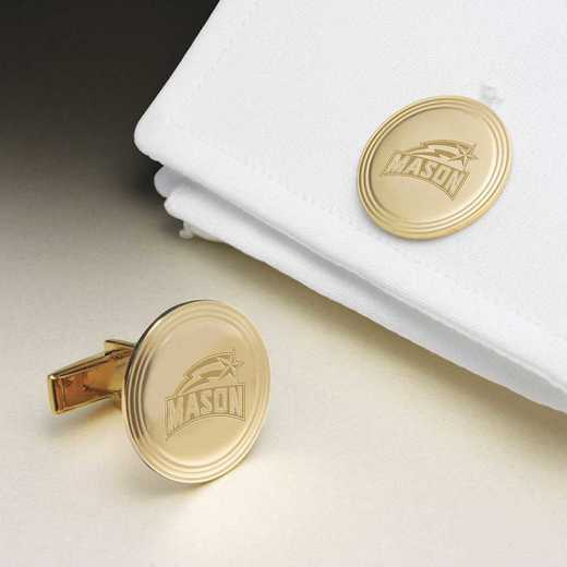 615789754350: George Mason Univ 14K Gld Cufflinks by M.LaHart & Co.